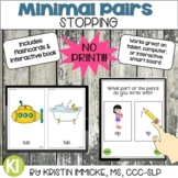 NO PRINT Minimal Pairs for Stopping for Speech Therapy