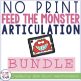 NO PRINT Monster Articulation Bundle - Distance Learning
