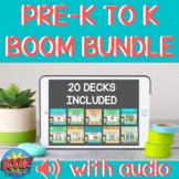 PRINT NO PREP PreK to K Boom Bundle WITH AUDIO