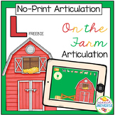 NO PRINT Articulation L | On the Farm Activity | Distance
