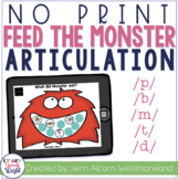 NO PRINT P, B, M Articulation Monsters for Speech Therapy