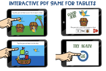 NO-PRINT Parrot Positional Vocabulary Interactive Game