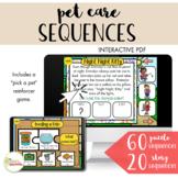 NO PRINT Digital Desk Pet Care Sequences and Story Sequences