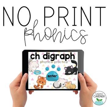 NO PRINT Phonics - CH Digraph Interactive PDF