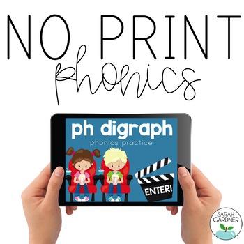 NO PRINT Phonics - PH Digraph Interactive PDF