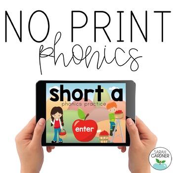 NO PRINT Phonics - Short A Interactive PDF