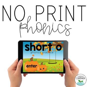 NO PRINT Phonics - Short O Interactive PDF