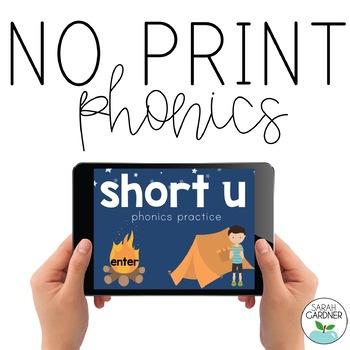 NO PRINT Phonics - Short U Interactive PDF