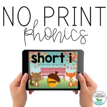 NO PRINT Phonics - Short I Interactive PDF FREEBIE