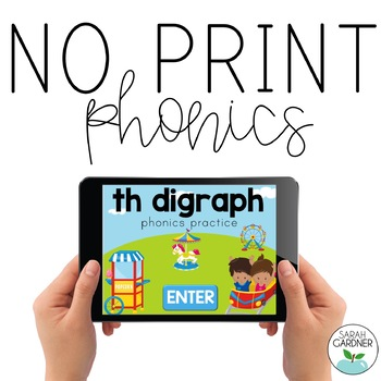 NO PRINT Phonics - TH Digraph Interactive PDF