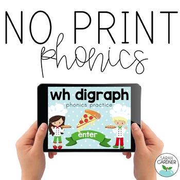 NO PRINT Phonics - WH Digraph Interactive PDF