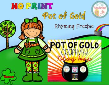 NO PRINT Pot of Gold Rhyming Freebie