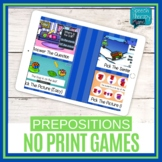 No Print Preposition Game