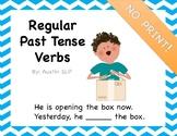 NO PRINT Regular Past Tense Verbs