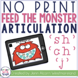 NO PRINT SH, CH, J Articulation Monsters for Speech Therap