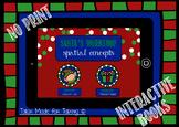 NO PRINT Santa's Workshop Interactive Book - Spatial Concepts