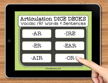 NO PRINT Speech Therapy Articulation Vocalic R Game