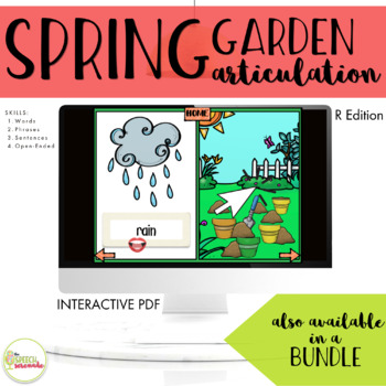 NO PRINT Spring Garden Articulation - R Edition for Distance Learning