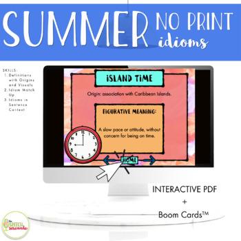 NO PRINT Summer Idioms