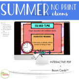 NO PRINT Summer Themed Idioms in Context Activities
