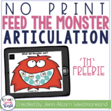 NO PRINT TH Articulation Monsters for Speech Therapy - Dis