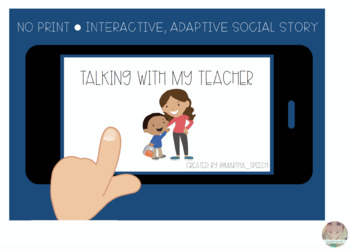 NO PRINT - Talking with My Teacher Social Story