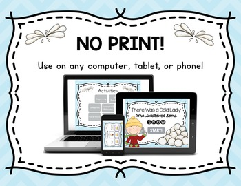 NO PRINT There Was a Cold Lady Who Swallowed Some Snow {Book Companion}
