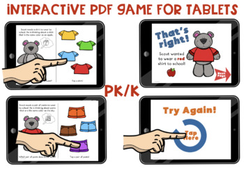 NO-PRINT Time to Get Ready! Interactive PDF Book!