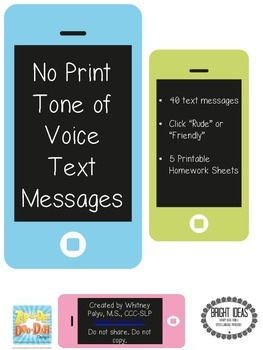 NO PRINT - Tone of Voice Text Messages