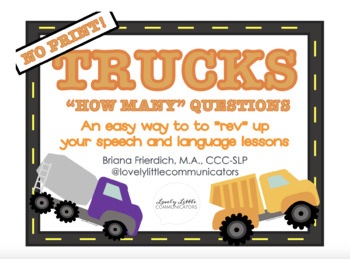 """NO PRINT Truck Themed """"HOW MANY"""" Questions"""