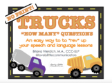 "NO PRINT Truck Themed ""HOW MANY"" Questions"