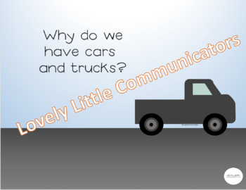 """NO PRINT Truck Themed """"WHY"""" Questions"""