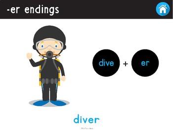 NO PRINT Understanding -er Endings (Community Helpers) (changing verb to noun)