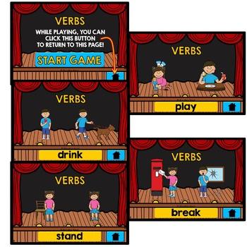 ACTION VERBS ACTIVITIES: NO PRINT VERBS INTERACTIVE ACTIVITY: VERBS GAME