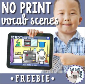 NO PRINT: Vocab Scenes Freebie! (Identifying Vocabulary)
