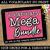 NO PRINT Vocabulary Speech Therapy Games Bundle (Distance