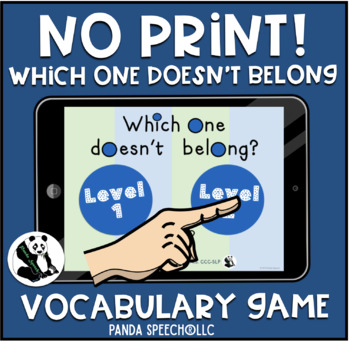 NO-PRINT Which One Doesn't Belong Vocabulary Game