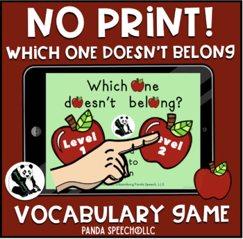 NO-PRINT Which One Doesn't Belong Vocabulary Game: Apple Edition