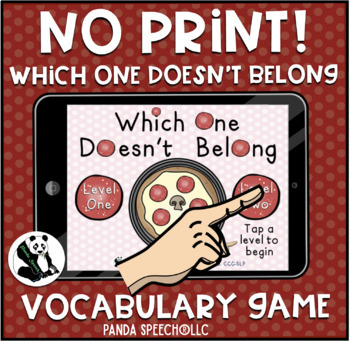 NO-PRINT Which One Doesn't Belong Vocabulary Game: Pizza Edition