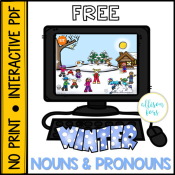 NO PRINT Winter Nouns & Pronouns by Allison Fors