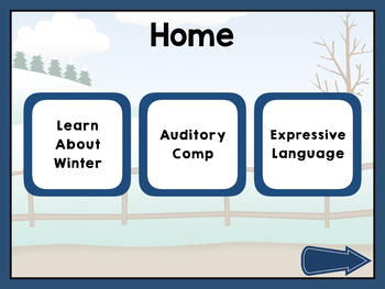 NO PRINT Winter Vocabulary Builder - Great for teletherapy