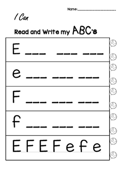 NO Prep ABC Writing and Sounds Worksheets