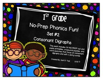 NO-Prep Phonics Fun for 1st Graders: Set 2