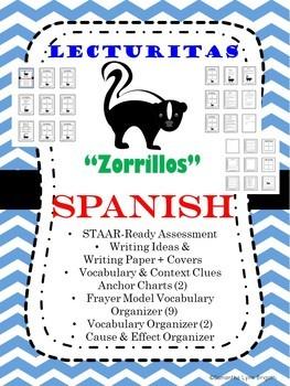 "NO Prep Spanish STAAR Ready Assessment ""Zorrillos"" Vocabulary Context Clues"