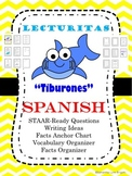 "NO Prep Spanish Reading ""Tiburones"" Completely Ready Fact & Opinion"