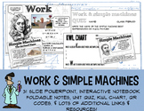 No Prep Work & Simple Machines PowerPoint Interactive Notebook foldable QR KWL