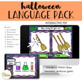 NO PRINT Halloween Receptive Expressive Language Activities Pack