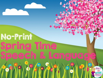 NO-Print Spring Speech and Language