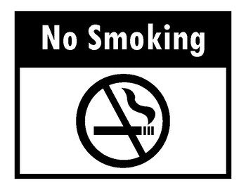 NO SMOKING SIGN for free! Simply Print!  FREE!