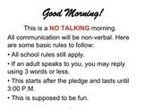 NO TALKING Day